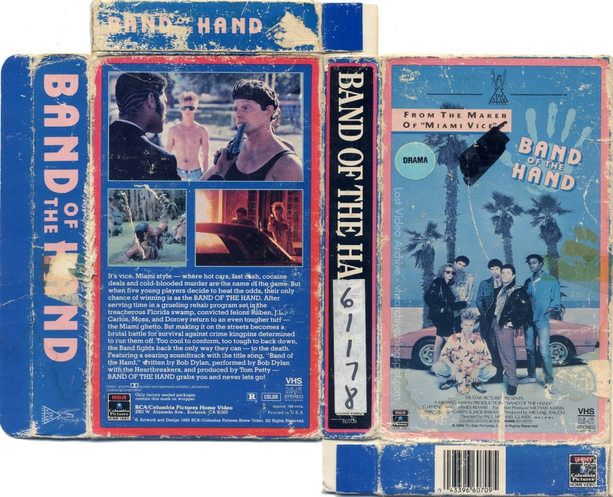 Band of the Hand VHS box